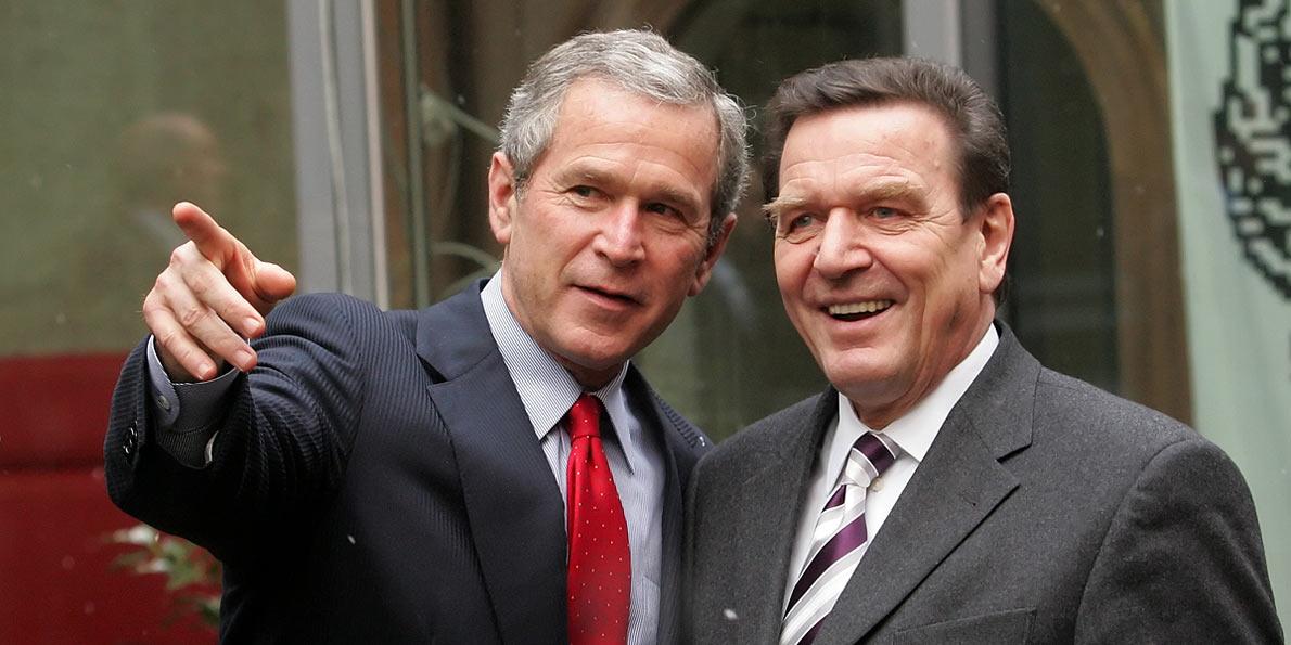 George W.Bush, Gerhard Schröder