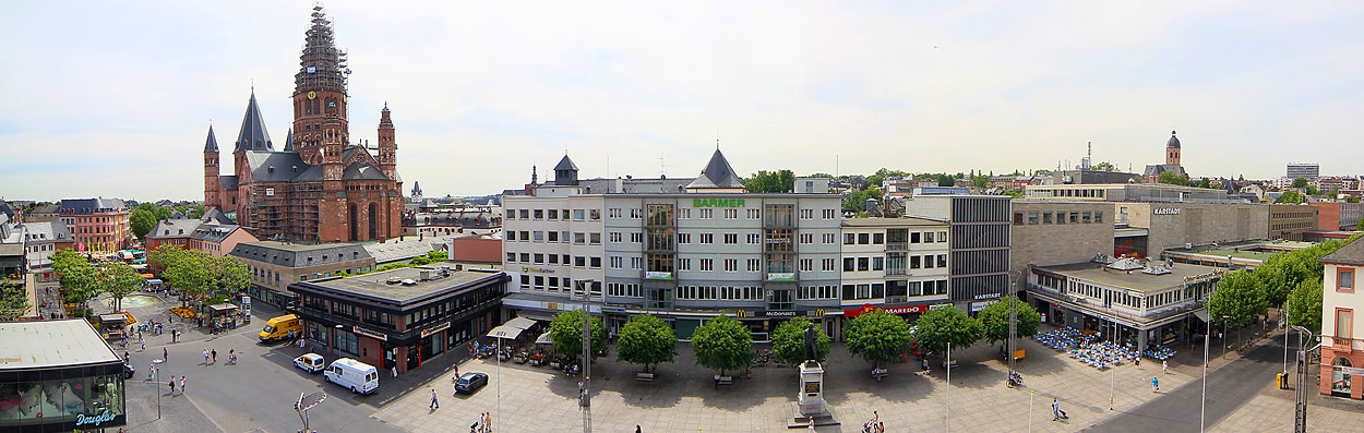 Mainz,  Ludwigstraße und Dom