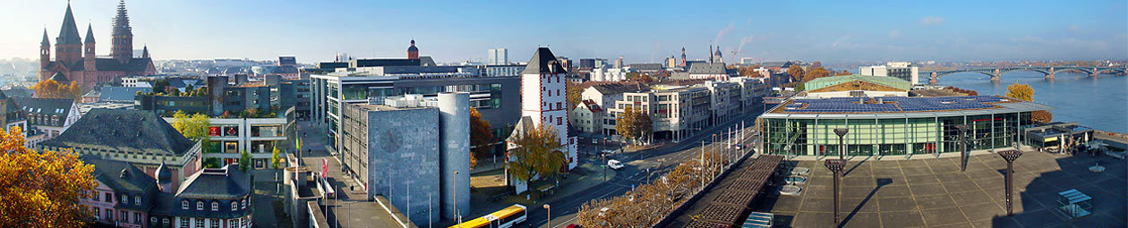 Mainz, Blick vom Rathausdach