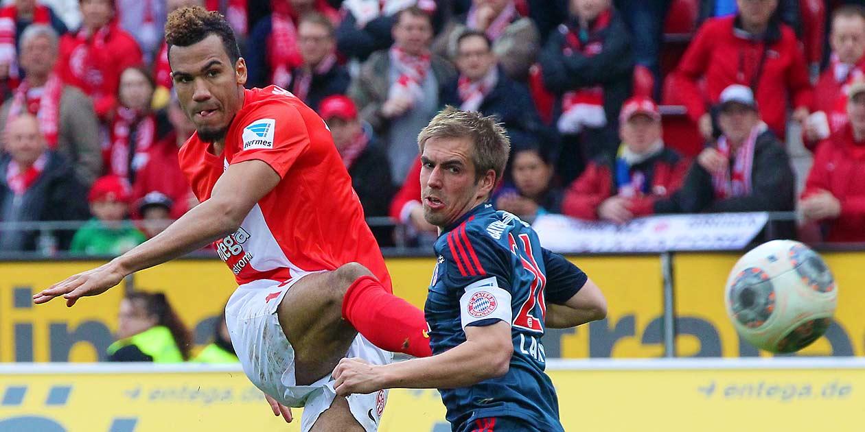 Fussball Bundesliga, Mainz 05 - Bayern München, Eric Maxim Choupo-Moting, Philipp Lahm