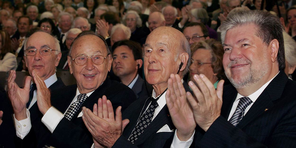 Friderichs, Genscher, Giscard d´ Estaing , Beck