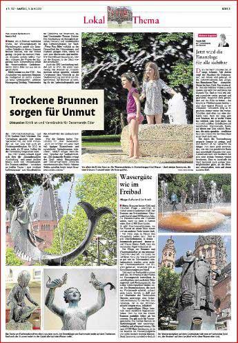 ,Brunnen in Mainz, Rheinzeitung, Fotos: Bernd Eßling, Fotograf, Mainz