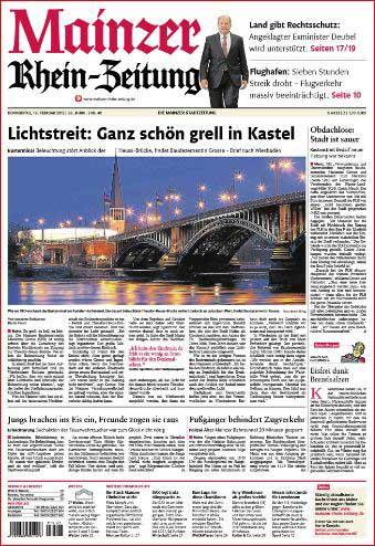 Heuss-Brücke, Rhein-Zeitung ,Foto: Bernd Eßling , Bildjournalist, Fotograf, Mainz