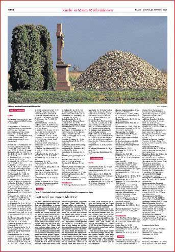 Feldkreuz zwischen Mainz-Ebersheim und Nieder-Olm,Rheinzeitung, Foto: Bernd Eßling, Bildjournalist, Fotograf, Mainz