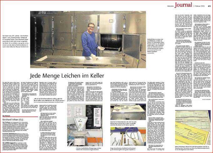 Reportage über den Rechtsmediziner Prof.Dr. Reinhard Urban in Mainz ,Rheinzeitung, Fotos: Bernd Eßling, Bildjournalist, Fotograf, Mainz