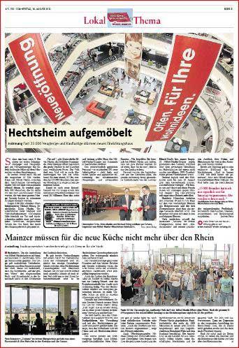 Firmenreportage, Eröffnung Möbel Martin Mainz ,Rheinzeitung, Fotos: Bernd Eßling, Bildjournalist, Fotograf, Mainz