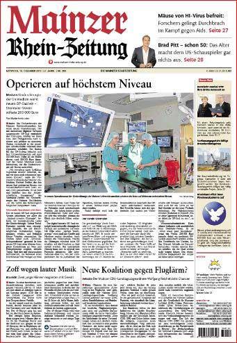 Mainz, neuer Operationssaal, Kinder - Chirurgie, Uni - Medizin, Uni - Klinik , Rhein-Zeitung ,Foto: Bernd Eßling , Bildjournalist, Fotograf, Mainz