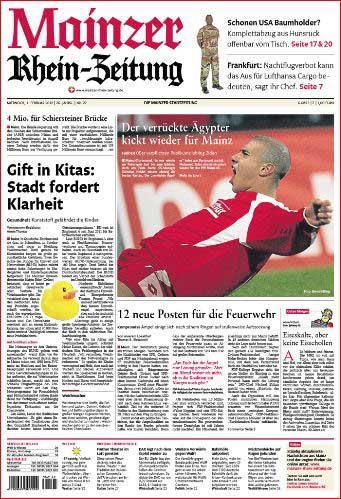 Fussball Bundesliga Mainz 05, Mohammed Zidan jubelt, Rheinzeitung, Foto: Bernd Eßling, Bildjournalist, Fotograf, Mainz