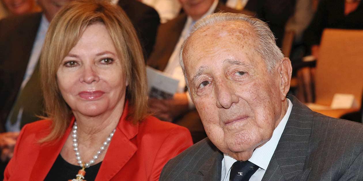 Journalist Peter Scholl-Latour mit Ehefrau Eva Schwinges