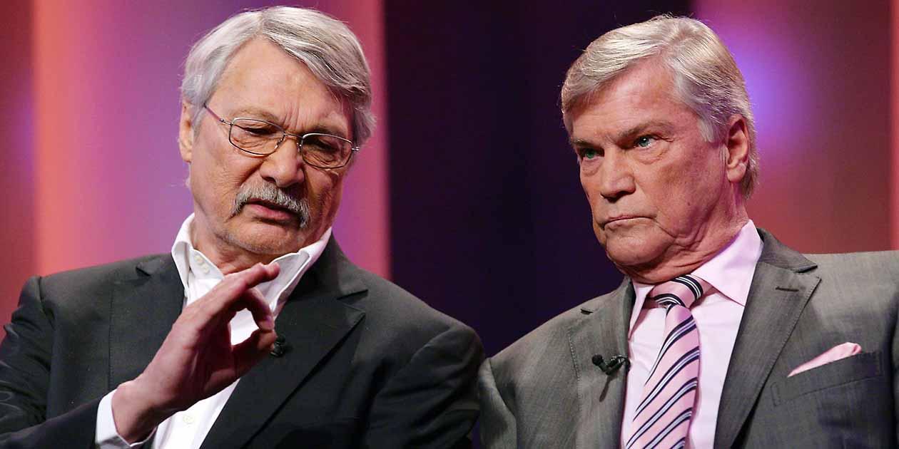 Die Kabarettisten Henning Venske und Jochen Busse im Unterhaus